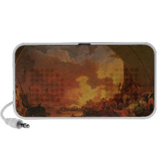 The Great Fire of London, c.1797 (oil on canvas) Travel Speakers