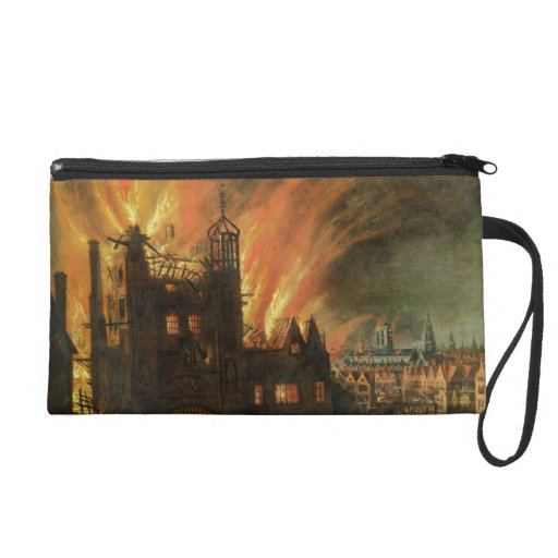 The Great Fire of London (September 1666) with Lud Wristlet Purse