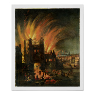 The Great Fire of London (September 1666) with Lud Poster