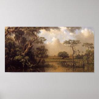 The Great Florida Marsh- Martin Johnson Heade 1886 Poster