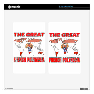 The Great FRENCH POLYNESIA. Decal For Kindle Fire