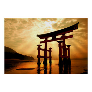 The Great Gateway at Miyajima Poster