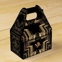 The Great Gatsby Design With A Monogram Favor Box