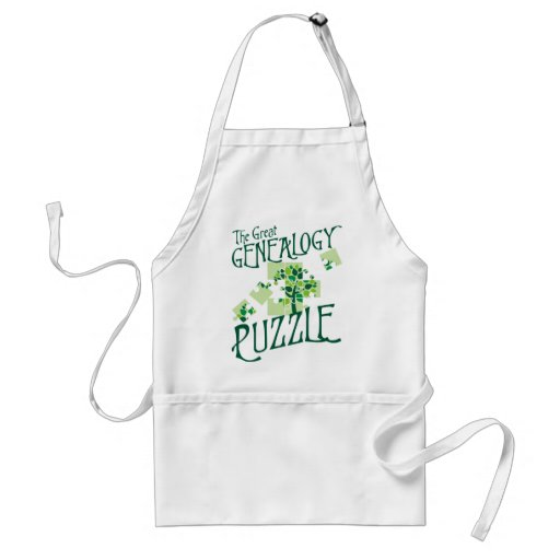 The Great Genealogy Puzzle Adult Apron