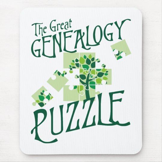The Great Genealogy Puzzle Mouse Pad