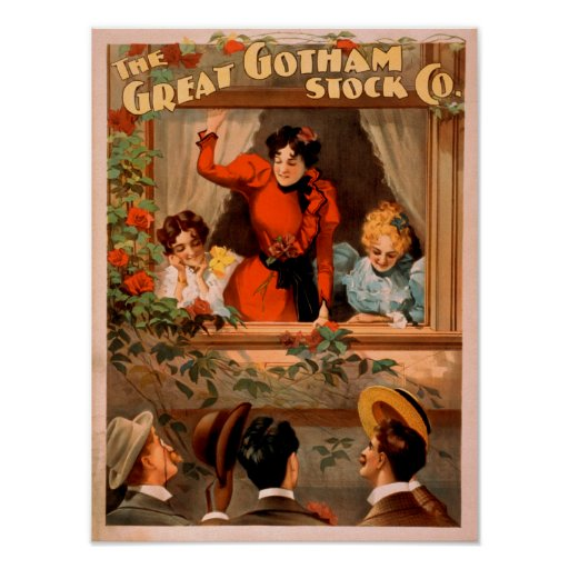 The Great Gotham Stock Co. Theatre Poster