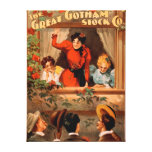 The Great Gotham Stock Co. Theatre Poster Canvas Print