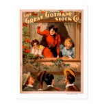 The Great Gotham Stock Co. Theatre Poster Postcard