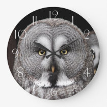 The great grey owl large clock