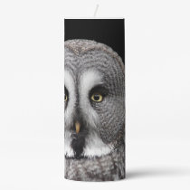 The-great-grey-owl Pillar Candle