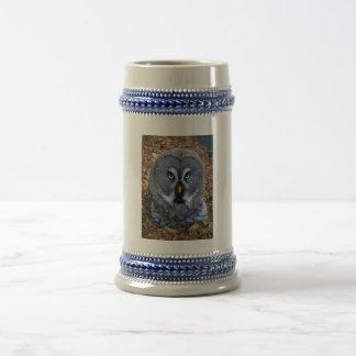 The Great Grey Owl Strix Nebulosa Lapland Owl Beer Stein
