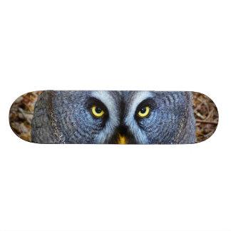 The Great Grey Owl Strix Nebulosa Lapland Owl Skateboard Deck