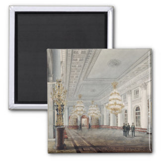 The Great Hall, Winter Palace, St. Petersburg 2 Inch Square Magnet