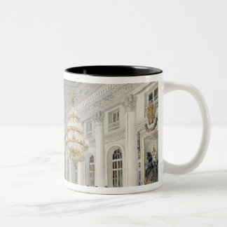 The Great Hall, Winter Palace, St. Petersburg Two-Tone Coffee Mug