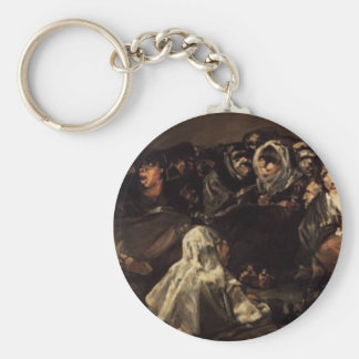 The Great He-Goat Or Witches by Francisco Goya Keychain
