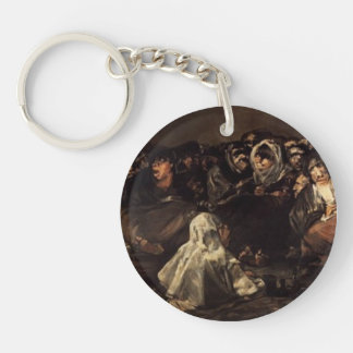 The Great He-Goat Or Witches by Francisco Goya Keychains