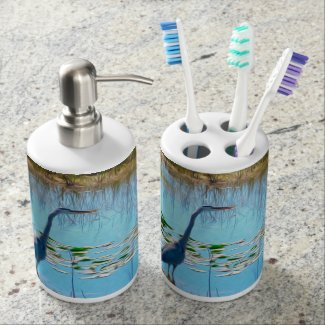 The Great Heron - Soap Dispenser/Tooth Brush Holde