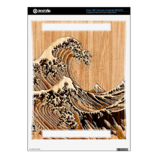 The Great Hokusai Wave Bamboo Decor Skin For Xbox 360