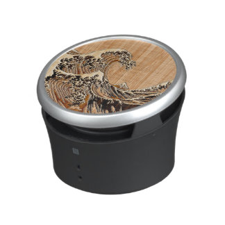 The Great Hokusai Wave Bamboo Wood Style decor Speaker