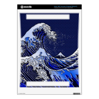 The Great Hokusai Wave Blue Decor Decal For The Xbox 360