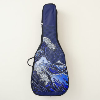 The Great Hokusai Wave chrome carbon fiber styles Guitar Case