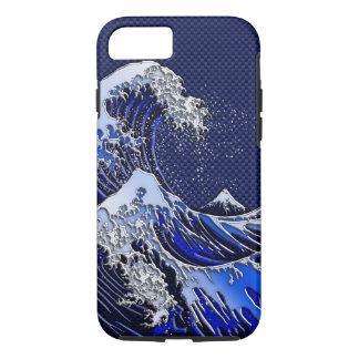 The Great Hokusai Wave chrome carbon fiber styles iPhone 8/7 Case