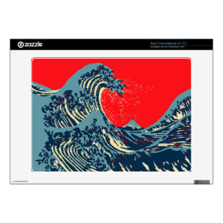 The Great Hokusai Wave in Hope Art Style Decal For Acer Chromebook