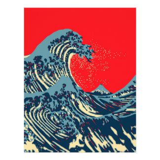 The Great Hokusai Wave in Hope Art Style Flyer