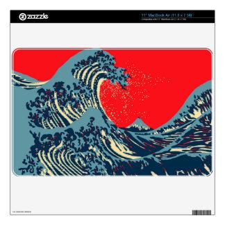 The Great Hokusai Wave in Hope Art Style MacBook Air Skin
