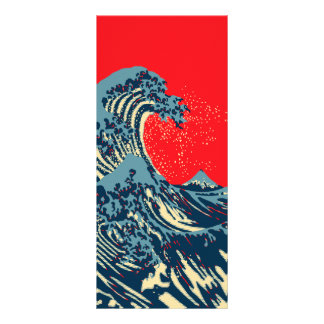 The Great Hokusai Wave in Hope Art Style Rack Card