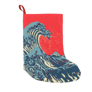 The Great Hokusai Wave in Hope Art Style Small Christmas Stocking