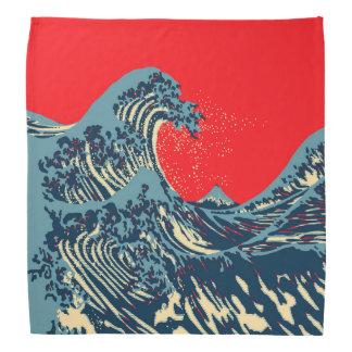 The Great Hokusai Wave in Hope Art Style Bandana