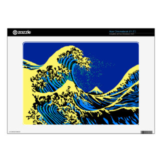 The Great Hokusai Wave in Pop Art Style Acer Chromebook Skins