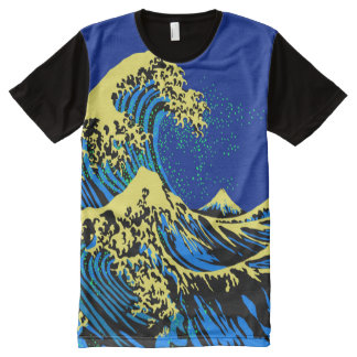 The Great Hokusai Wave in Pop Art Style All-Over-Print Shirt