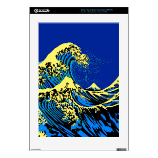 The Great Hokusai Wave in Pop Art Style Decals For PS3 Console