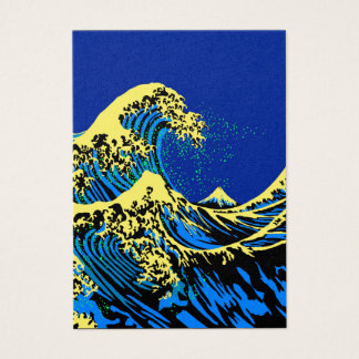 The Great Hokusai Wave in Pop Art Style Decor Business Card