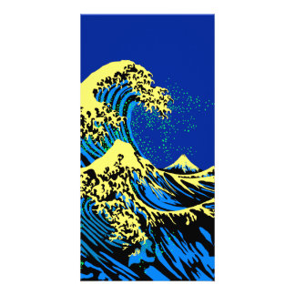 The Great Hokusai Wave in Pop Art Style Decor Card