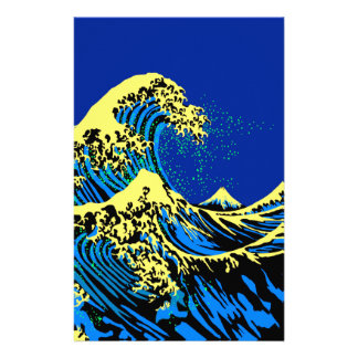 The Great Hokusai Wave in Pop Art Style Decor Flyer