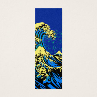 The Great Hokusai Wave in Pop Art Style Decor Mini Business Card