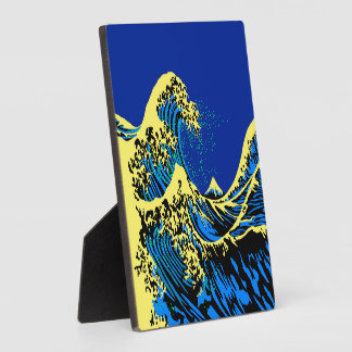 The Great Hokusai Wave in Pop Art Style Decor Plaque