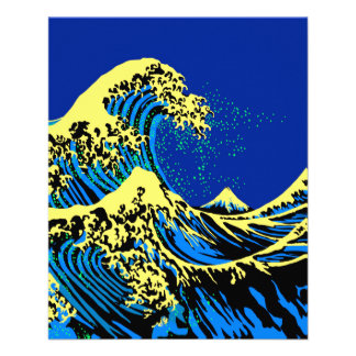 The Great Hokusai Wave in Pop Art Style Flyer