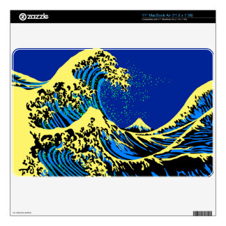 The Great Hokusai Wave in Pop Art Style MacBook Air Decal