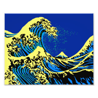 The Great Hokusai Wave in Pop Art Style Photo Print