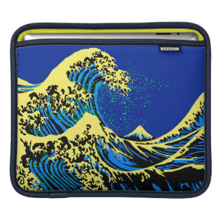 The Great Hokusai Wave in Vibrant Pop Style Sleeve For iPads