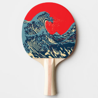 The Great Hokusai Wave Pop Decor Ping-Pong Paddle