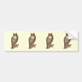 The Great Horned Owl (Bubo virginianus) Bumper Sticker