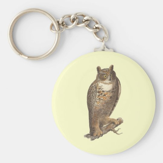 The Great Horned Owl (Bubo virginianus) Keychain