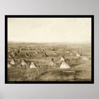 The Great Hostile Lakota Camp SD 1891 Print