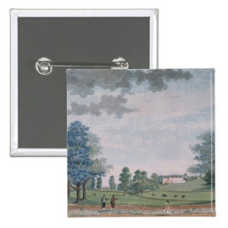 The Great House and Park at Chawton, c.1780 Pinback Button