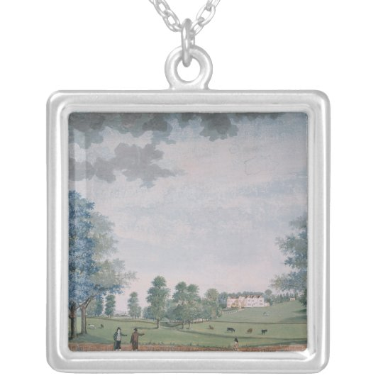 The Great House and Park at Chawton, c.1780 Silver Plated Necklace